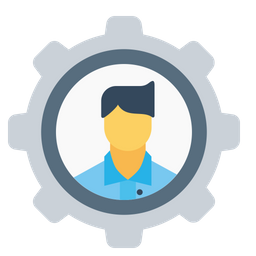 Office, Employee, Man, Setting, Configuration, Gear, Avatar, User Icon