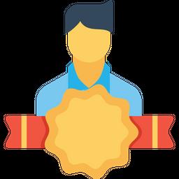 Office, Employee, Man, User, Avatar, Bedge, Award Icon