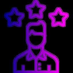 Office, Employee, Man, User, Person, Avatar, Star, Achievement Icon
