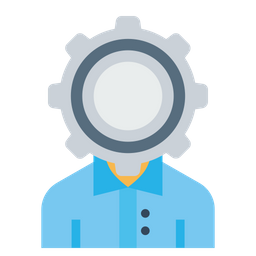 Office, Employee, Person, User, Man, Setting, Gear, Config Icon