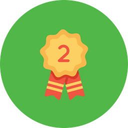 Office, Employee, Rank, Achievement, Position, Second, Runnerup Icon