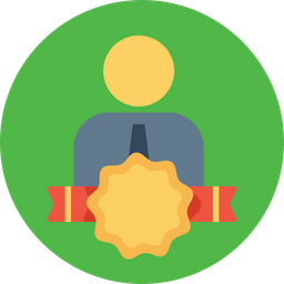 Office, Employee, Staff, Award, Bedge, Label, Milestone Icon