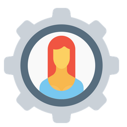 Office, Employee, Woman, Setting, Configuration, Gear, Avatar, User Icon