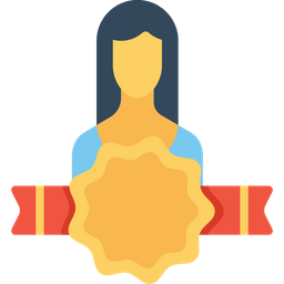 Office, Employee, Woman, User, Avatar, Bedge, Award Icon