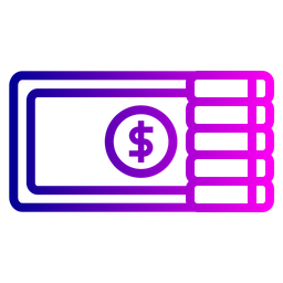Office, Money, Currency, Finance, Coin, Dollar, Salary Icon