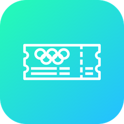 Olympic, Entry, Ticket, Pass, Event, Schedule Icon