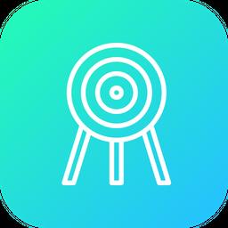 Olympic, Game, Archery, Arrow, Sports, Target, Aim Icon
