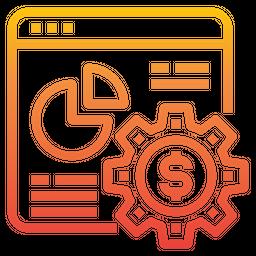 Online Analysis Management Gradient Icon