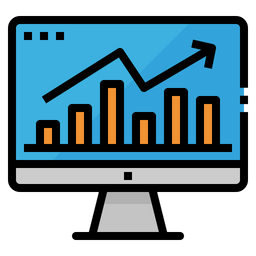 Online Analytics Colored Outline Icon