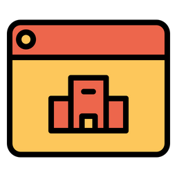 Online Hotel Booking Icon Of Colored Outline Style Available In Svg Png Eps Ai Icon Fonts