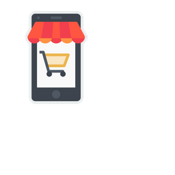 Online, Shop, Store, Ecommerce, Shopping, Cart, Mobile Icon