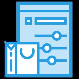 Online, Shopping, Bag, Cart, Window, Performance, Statics, Seo, Tool, Optimization Icon