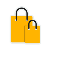 Online, Shopping, Carry, Bag, Cart Icon