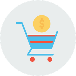 Online, Shopping, Cart, Trolly, Dollar, Sign, Currency, Payment, Seo, Tool Icon