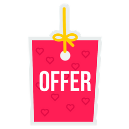 Online, Shopping, Ecommerce, Site, Offer, Valentine, Day Icon