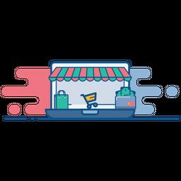 Online, Store, Shop, Ecommerce, Cart, Bag, Wallet Icon