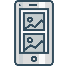 Page, Mobile, Photo, Blog, Layout, Wireframe, Browser Icon