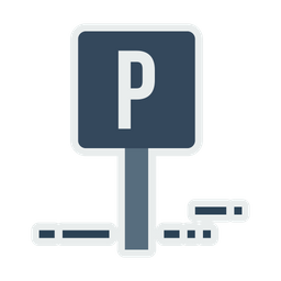 Parking, Sign, Information, Car, Transport, Hotel, Road Icon