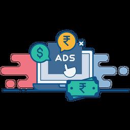 Pay, Per, Click, Ppc, Advertising, Seo, Digital Icon