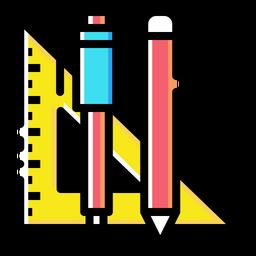 Pen, Pencil, Angle, Degree, Measure, Draw, Write, Mathematics Icon