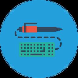 Pen, Pencil, Keyboard, Write, Drawing, Design, Sketch Icon
