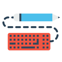 Pen, Pencil, Keyboard, Write, Drawing, Design, Sketch Icon