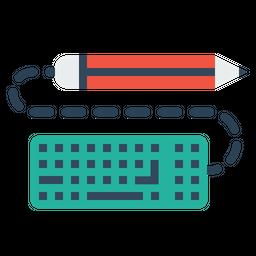 Pen, Pencil, Keyboard, Write, Drawing, Design, Sketch, Copy Icon
