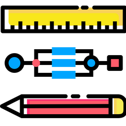 Pen, Pencil, Ruler, Stationary, Geometry, Drawing Icon