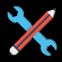 Pen, Pencil, Settings, Seo, Web, Editing, Stationary Icon
