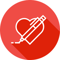 Pen, Pencil, Write, Draw, Design, Heart, Like, Favorite Icon