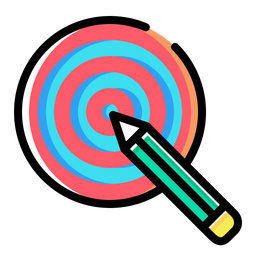 Pencil, Dart, Board, Idea, Goal, Target, Bullseye Icon