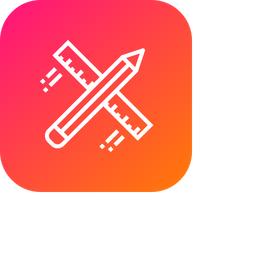 Pencil, Ruler, Design, Drawing, Flying, Architecture, Stationary Icon