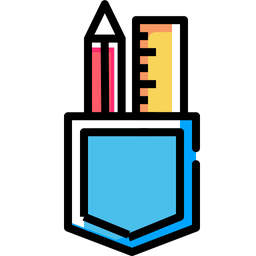 Pencil, Ruler, Pocket, Design, Drawing, Creation, Write Icon