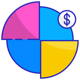 Pie chart Colored Outline Icon