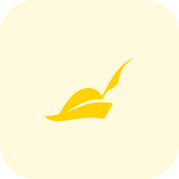 Pied Piper Hat Flat  Logo Icon
