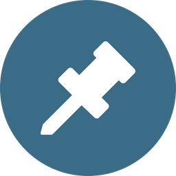 Pin, Mark, Attach, Joint, Point, Stick Icon