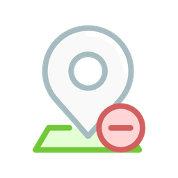 Pin Colored Outline Icon