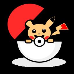 Pokemon, Pokeball, Pikachu, Thunder, Electric, Shock Icon