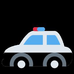 Police, Car, Patroling, Vehicle, Safety, Emergency, Emoj, Symbol
