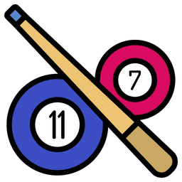 Pool Stick And Ball Icon