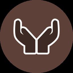 Praying Glyph Icon