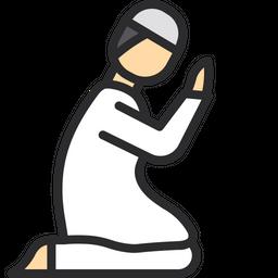 Praying Man Icon