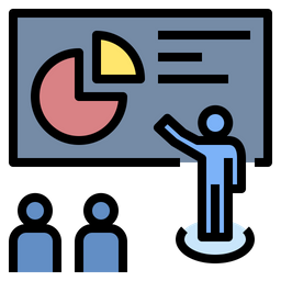 Presentation Skill Icon Of Colored Outline Style Available In Svg Png Eps Ai Icon Fonts