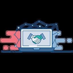 Public, Relation, Partnership, Agreement, Handshake, Business, Deal Icon