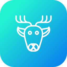 Raindeer, Christmas, Deer, Rudolf, Santa, Animal, Xmas Icon