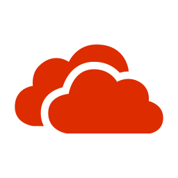 Red Onedrive Icon Of Flat Style Available In Svg Png Eps Ai Icon Fonts