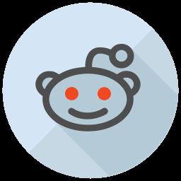 Reddit Flat  Logo Icon