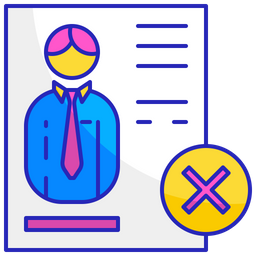 Rejected cv Icon
