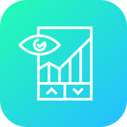 Report, Graph, Chart, Performance, Up, Down, Analysis Icon