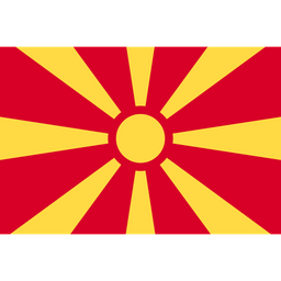 Republic Of Macedonia Flat  Flag Icon